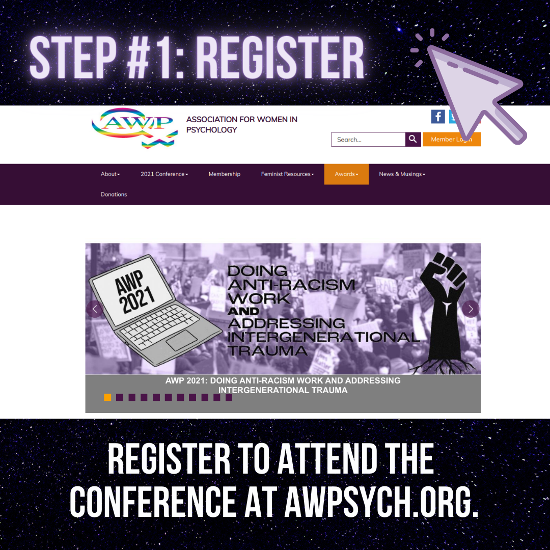 Picture of AWP's website with the words